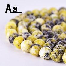 Бусины Asingeloo из натурального камня желтой сосны, незакрепленные бусины из камня для самостоятельного изготовления браслетов, ожерелий, юве...