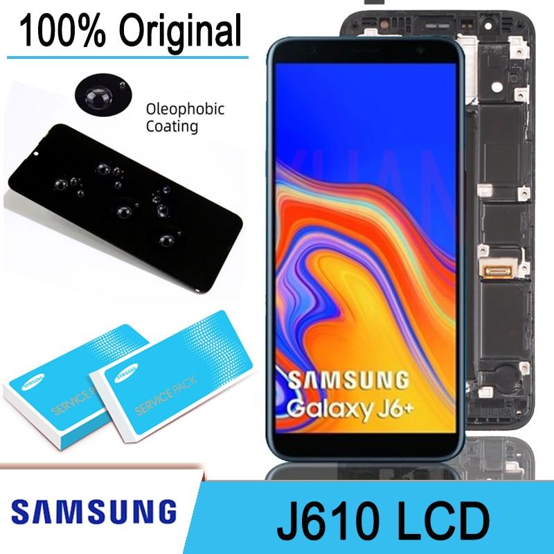 100% Оригинальный 6,0 ''ЖК-дисплей сенсорный экран дигитайзер в сборе для Samsung Galaxy J6 + J610 J610F J610FN запасные части