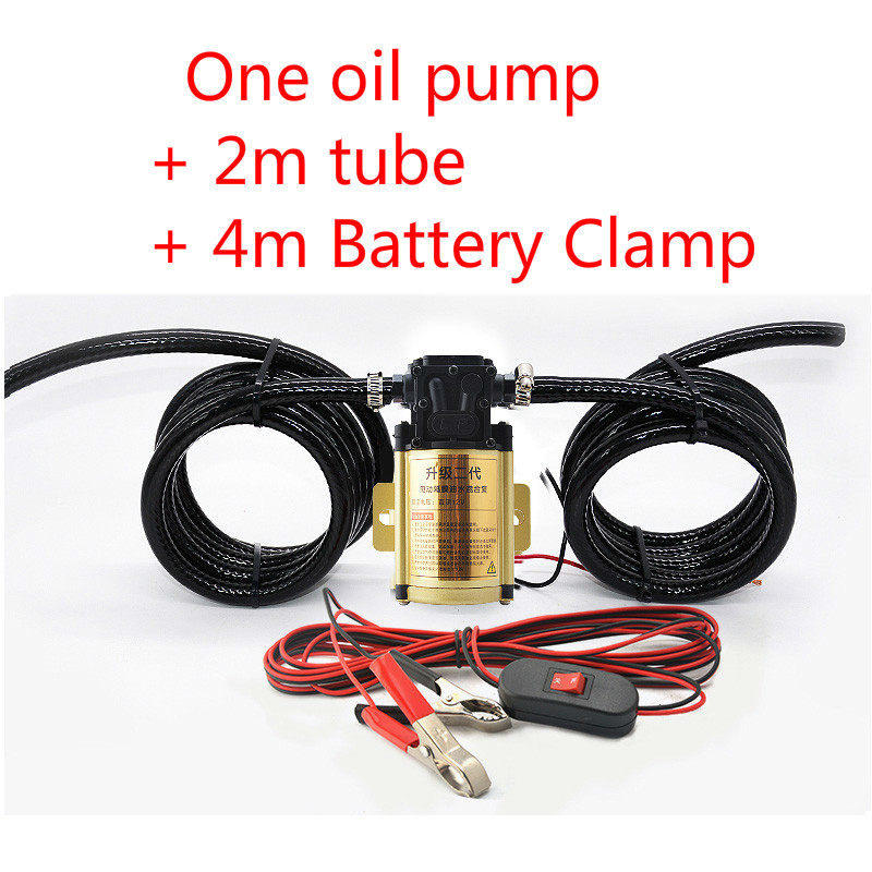 12V 24V electric  gasoline  diesel Water oil pump 2m tube 4m power cord high-power universal self-priming pump