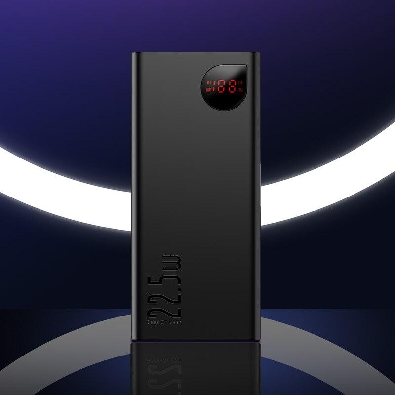 Baseus, 20000 мА/ч, внешний аккумулятор, быстрая зарядка, 4,0, 3,0, USB C, PD, быстрая зарядка, внешний аккумулятор для iPhone 11, портативное зарядное устройство - Цвет: Twilight Power Bank