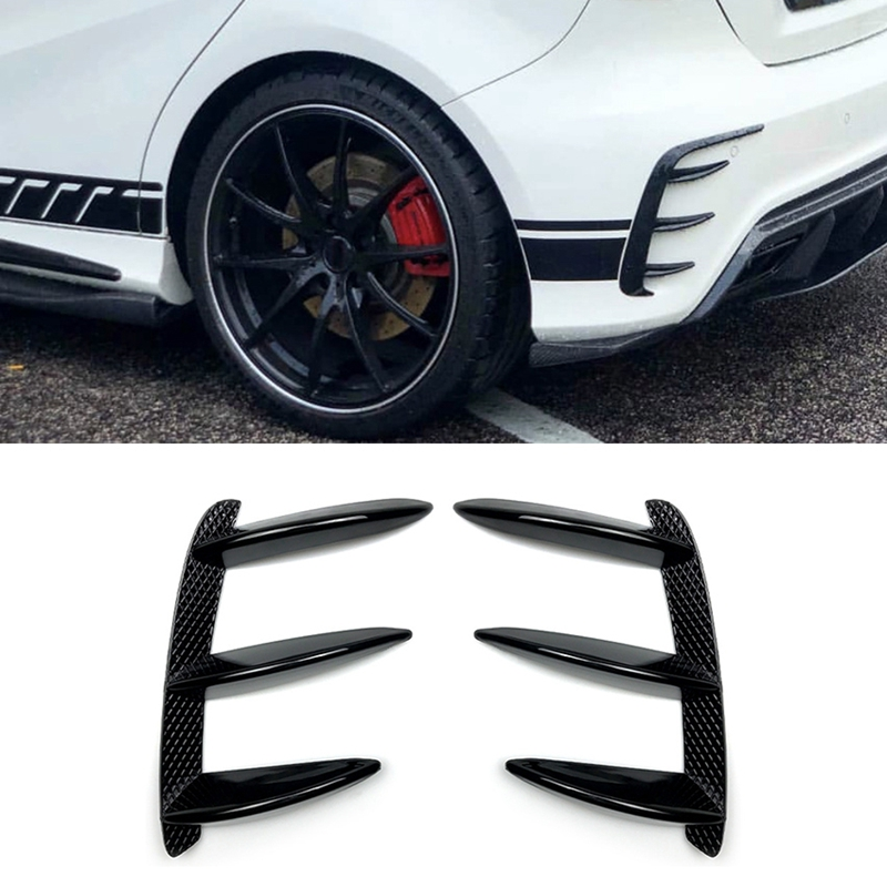 Car Black Rear Bumper Spoiler Flank Tail Wind Knife for <font><b>Mercedes</b></font> <font><b>Benz</b></font> a Class <font><b>W176</b></font> <font><b>A200</b></font> A260 image