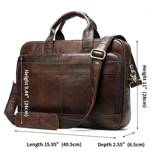 Image 2 - WESTAL borsa da uomo in pelle cartella da uomo borse da ufficio per uomo borsa da uomo in vera pelle per laptop borsa da uomo borsa da lavoro