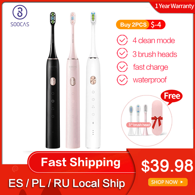 Soocas Electric Toothbrush Sonic Rechargeable Global-Version Adult USB X3U Upgraded