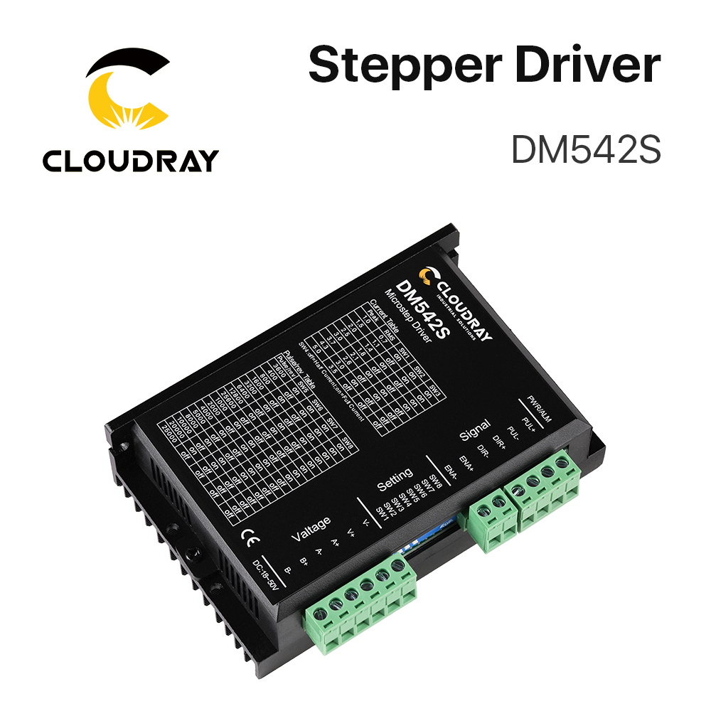 s542 - Cloudray 2-Phase Stepper Motor Driver DM542S Supply Voltage 18-50VDC Output 1.0-5.0A Current