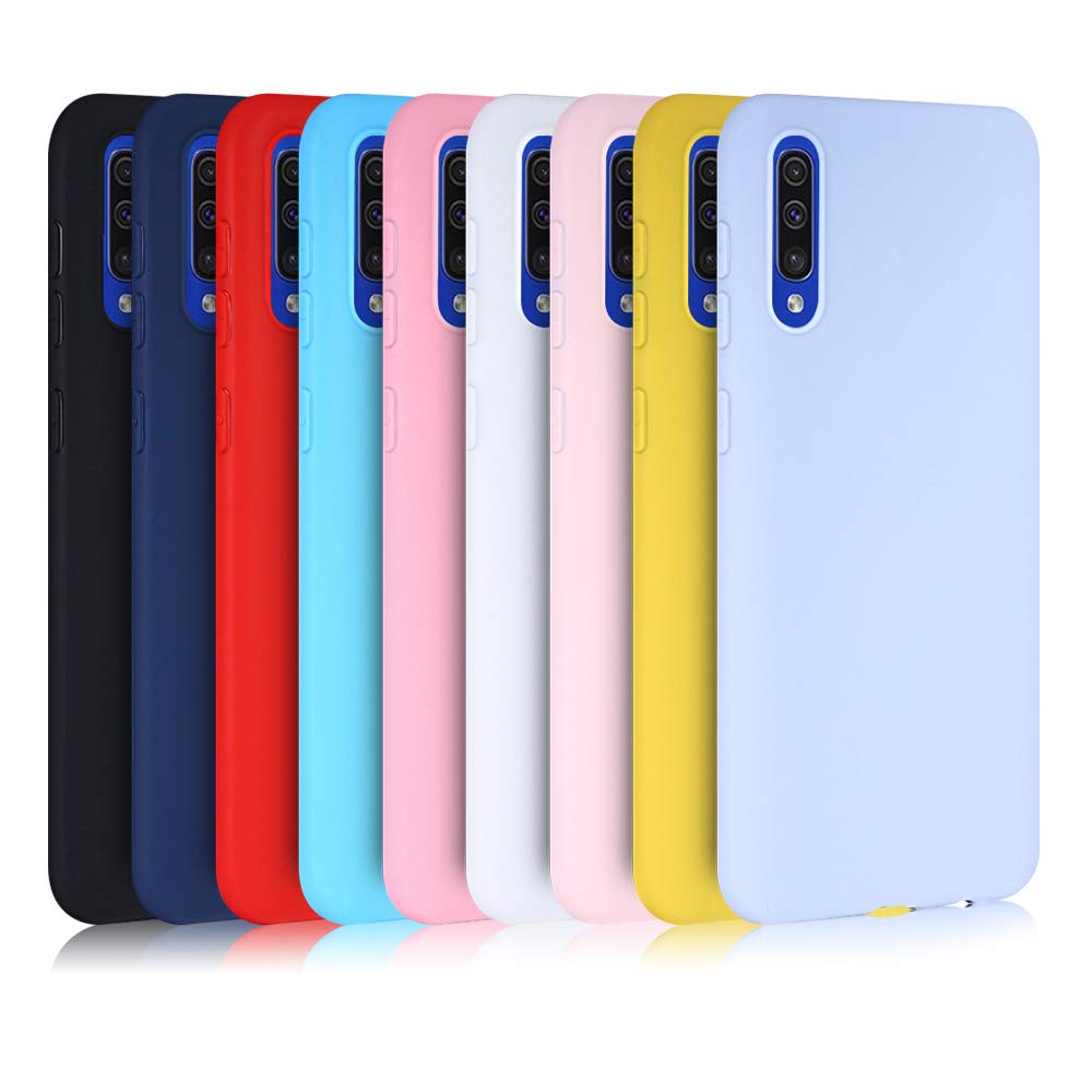 Silicone Case For Samsung Galaxy A50 A30 A40 A10 A20 A70 Solid Candy A20e M20 A7 2018 Note 10 S8 S9 S10 Plus S10e 5G Cases Cover