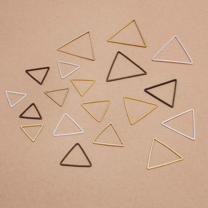 20pcs Geometrische Dreieck förmig Ohrring Anhänger DIY Ohrhänger Haken