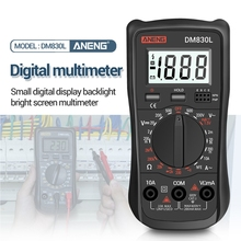 DM830L Digital Multimeter Meter Testers 1999 Count Electrical Transistor Capacitance DC/AC Multimetro With LCD Backlight