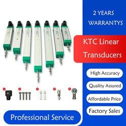 Potenciômetro eletrônico do transdutor do kwh da posição da régua da tração do sensor linear do deslocamento de ktc 50-200mm para a modelação por injeção