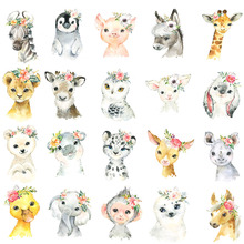 5D Diamond Painting Watercolor Style Cute Animal Cross Stitch DIY Mosaic Embroidery Rhinestones Home Decor