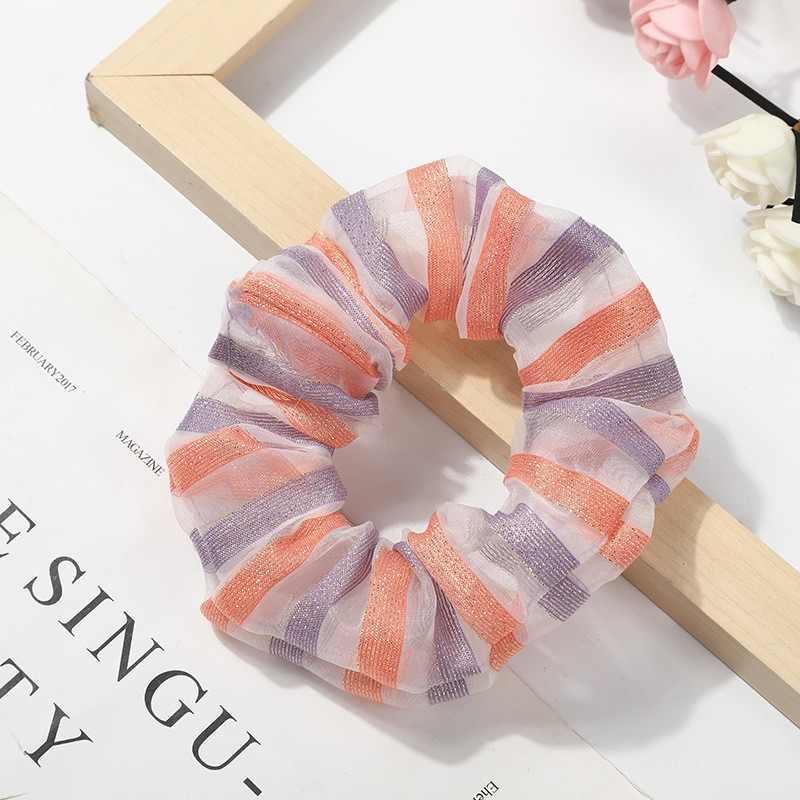 1 шт. разноцветные радужные резинки для волос, резинки для волос, Радужное кольцо для волос, веревка для галстука для женщин и девушек, держатель для конского хвоста, аксессуары для волос