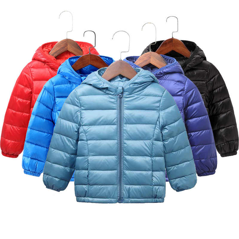 Autumn Winter Kids Down Jackets For Girls Children Warm Down Coats For Boys 2-8 Years Toddler Girls Parkas Outerwear Clothes