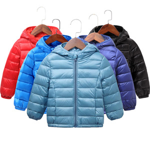 Autumn Winter Kids Down Jackets For Girls Children Warm Down Coats For Boys 2-8 Years Toddler Girls Parkas Outerwear Clothes(China)