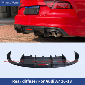 For A7 Carbon fiber FRP High Quality Rear Bumper Lip Diffuser Spoiler For Audi A7 S7 Sline Sport 2016 2017 2018 2019 Car Styling