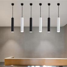 Nordic Dimmable LED Pendant Lights Cylinder Hanging Lamps Kitchen Dining Room Shop Bar Decoration Cord Background Hanglampen