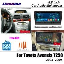 Liandlee Radio estéreo con GPS para coche, Radio con vídeo, Wifi, mapa de Carplay, navegación Multimedia, 8,8 pulgadas, Android, para Toyota Avensis T250, 2003 ~ 2009