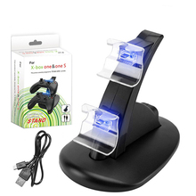 Gamepad Controller Charging Dock For Xbox One with LED Light Dual USB Wireless Charger Stand Station Base Cradle For Xbox One