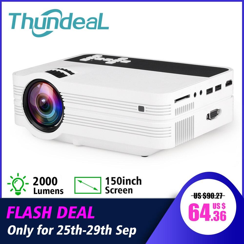 ThundeaL ミニプロジェクター UB10 アンドロイド WiFi 3D LED プロジェクター 2000 ルーメンテレビホームシアター液晶ビデオ USB VGA サポート 1080 1080P HD ビーマー  グループ上の 家電製品 からの 液晶プロジェクター の中 1