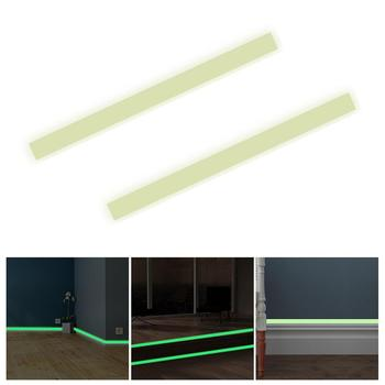 Home Bedroom Hallway Baseboard Luminous Wall Sticker Glow in the Dark PVC Strip image