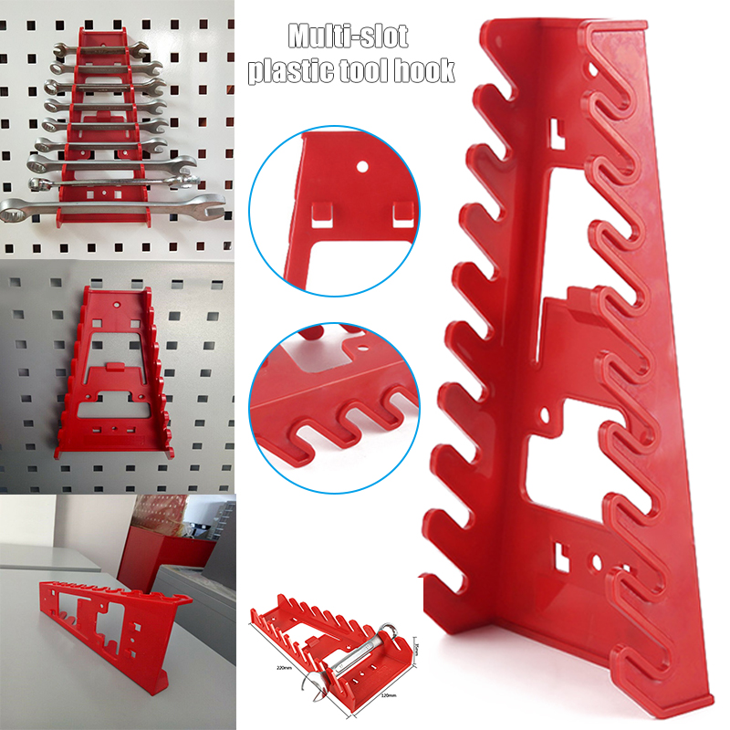 Hot Durable Multi Slots Spanner Storage Rack Wrench Holder Rail Tray Spanners Organizer Tool D6