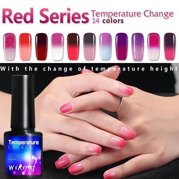 De moda gel de cambio de temperatura esmalte de gel LED UV barniz de uñas esmalte de uñas en gel artístico todos para manicura capa superior semipermanente abrigo