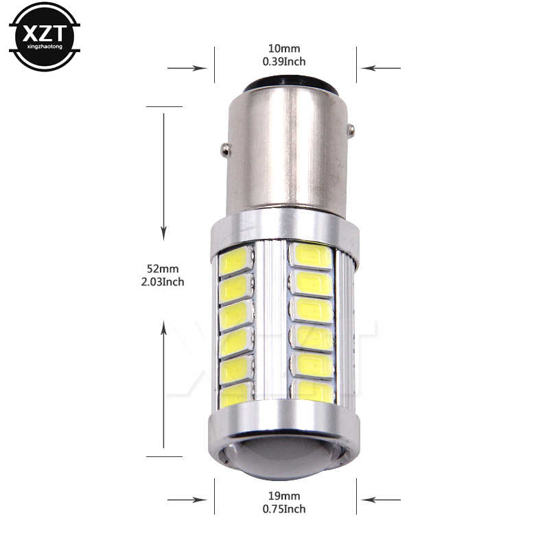 S25 P21W 1156 BA15S 5630 33SMD 5730 LED yüksek güç Led araba oto Led ampul ışık 33 Led beyaz DC 12V