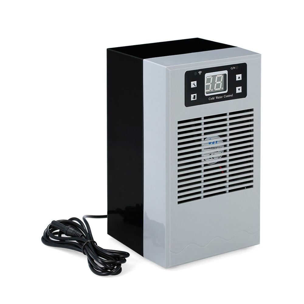 Contrôle sans fil Aquarium refroidisseur d'eau étang dispositif de refroidissement réservoir de poissons refroidissement à température constante avec pompe Submersible 3W