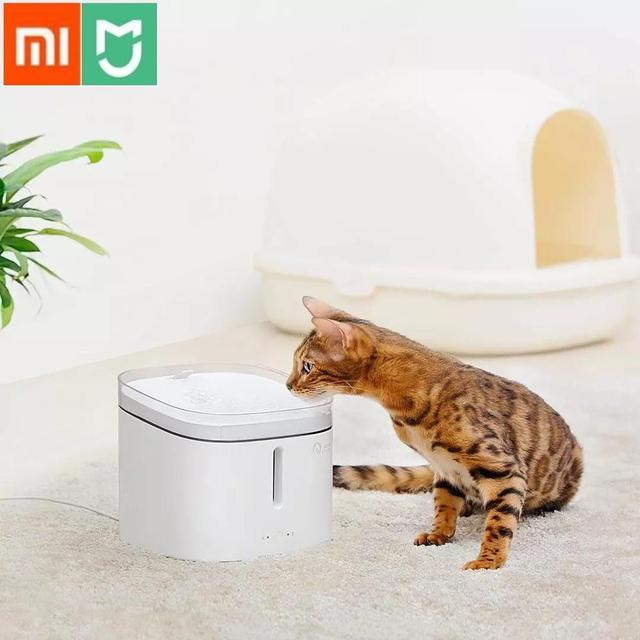 Xiaomi Mijia Kitten Puppy Pet Water Dispenser Cat Living Water Fountain 2L Electric Fountain Automatic Smart Dog Drinking Bowl