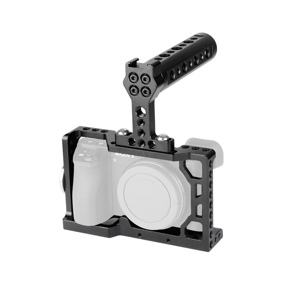 Kayulin a6500 Dslr camera cage with Top Handle Grip for Sony A6500 camera