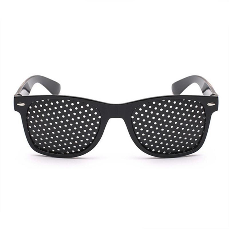 Black Eyesight Vision Training Exercise Eye Care Improve Pinhole Glasses Hot! Eyes Exercise Eyesight Vision Improve Pinhole Glas