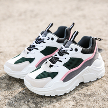 Women Sneakers 2019 Fashion Casual Shoes Woman Comfortable Breathable Mesh Flats Female Platform Sneakers Chaussure Femme forudesigns light comfortable mesh shoes for women flats breathable mesh shoes woman pretty leaf printed women s sneakers mujer