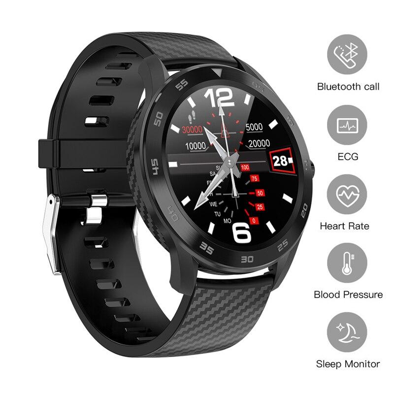 Смарт часы с Bluetooth, ECG PPG, фитнес часы, пульсометр, кровяное давление, Смарт часы, IP68, водонепроницаемые мужские спортивные часы