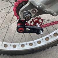 In Lega di alluminio Bicicletta a Velocità Singola Converte Pieghevole Deragliatore Bicicletta Tendicatena con Pignone Ruota di Guida Ovale MTB Della Bici