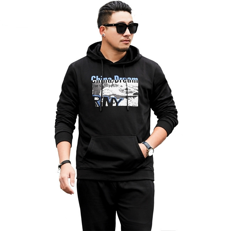 2020 New Plus Size 8xl7xl Brand Tracksuit Fashion Hoodies Men Sportswear Two Piece Sets Hoody+pants Sporting Suit Male