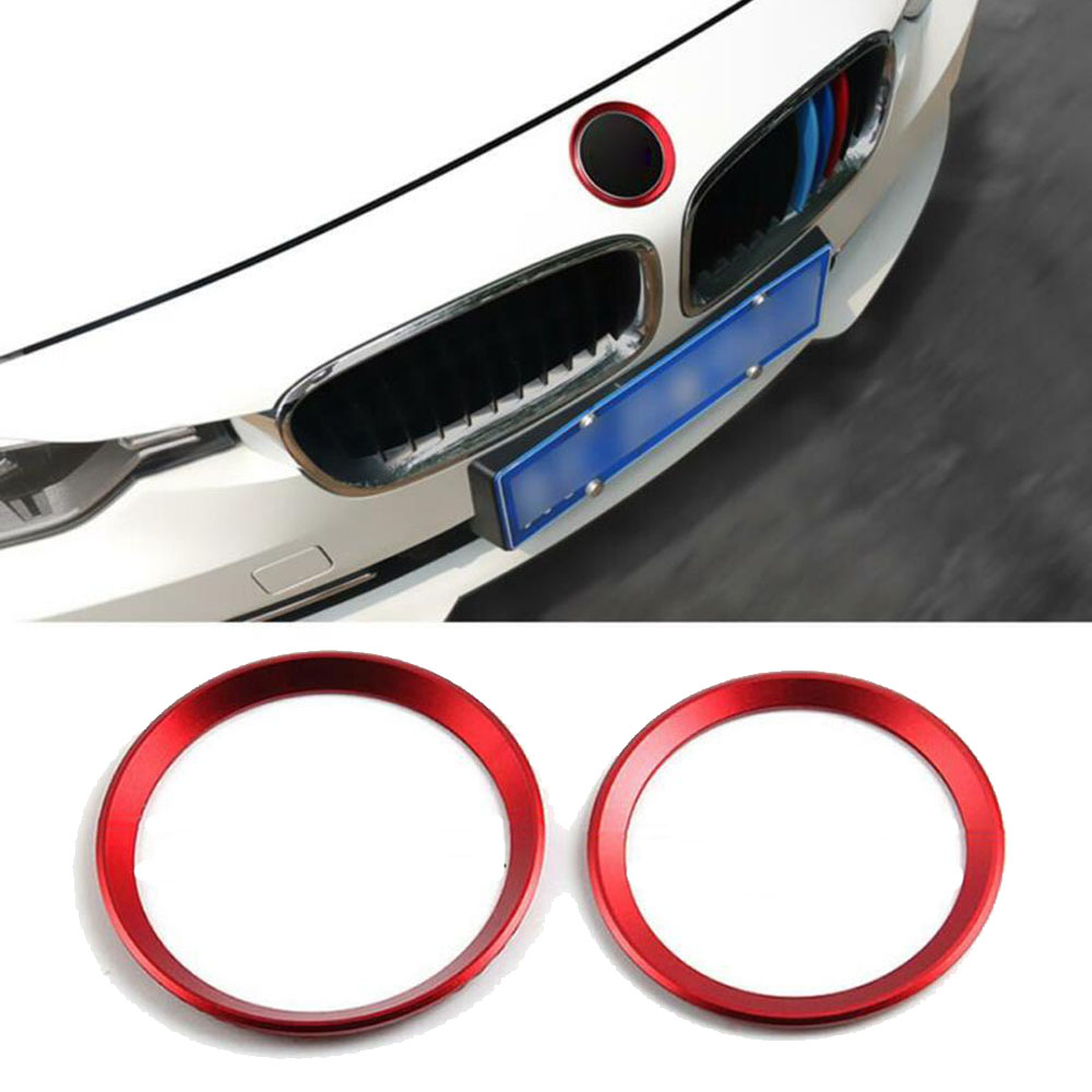 Covers Logo Surrounding Ring Trims For BMW F30 E90 82 Mm & 74 Mm Emblem image