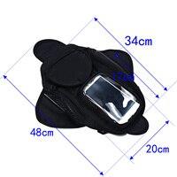 Sac noir huile carburant magnétique moto Oxford tissu et Nylon matériel 4 poche réservoir Portable universel Voiture Couvre     -