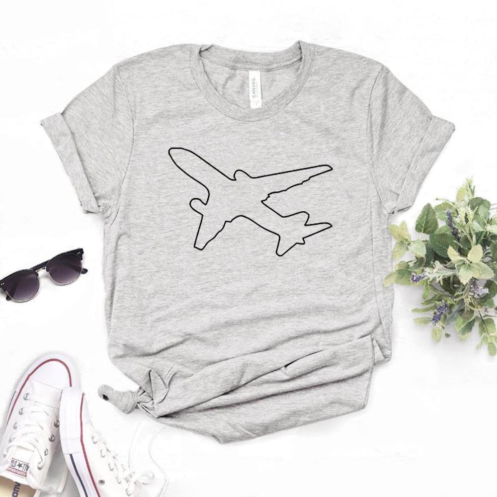 Pilot Plane Print Women tshirt Cotton Casual Funny   t     shirt   For Yong Lady Girl Top Tee 6 Colors Drop Ship NA-440