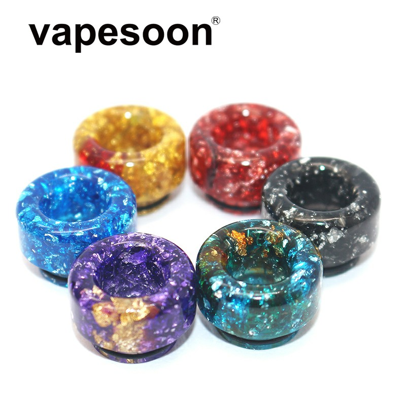 Colorful Resin 810 Drip Tip Vape Mouthpiece For 810 Atomizer Tank Vape Vaporizer Fit Ello Duro POP TFV12 Prince Etc