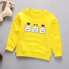 Одежда для малышей толстовка для мальчиков и девочек детская куртка детская одежда, худи с принтом в виде героев мультфильмов, футболка с надписью, с длинными рукавами, Толстовка пуловер Топы для детей, футболка, одежда