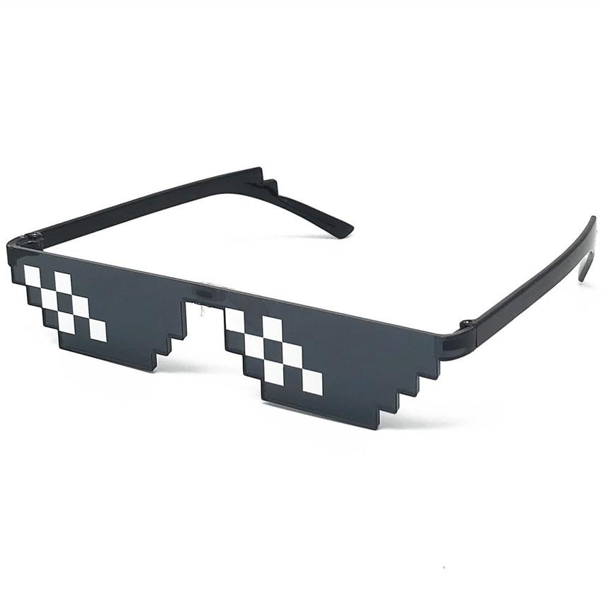 Модные очки с оттенками, 8 бит, пиксельные женские солнцезащитные очки, унисекс очки, мозаичные солнцезащитные очки для мужчин и женщин, очки...