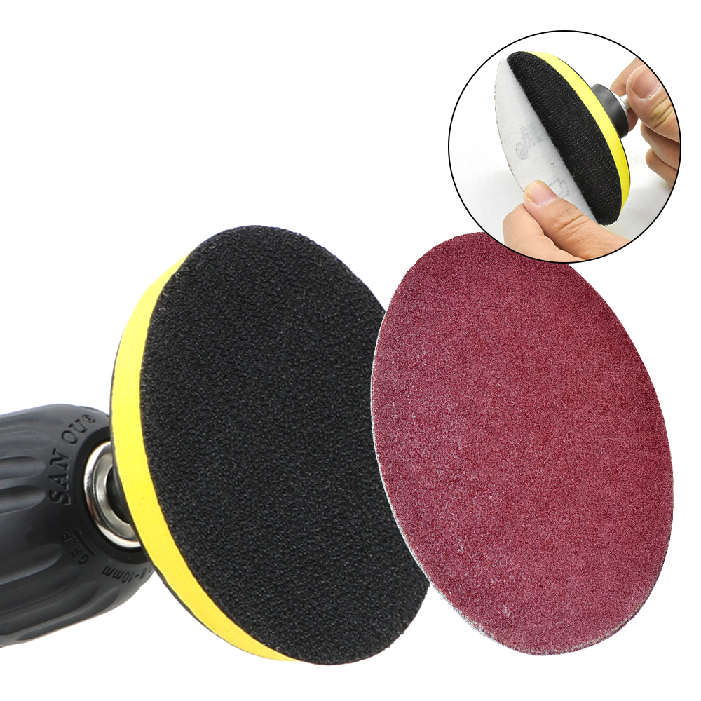For Dremel Electric Grinder Rotary Tool 3x75mm For Woodworking 8mm Shank   Polishing Tools Self-adhesive Sanding Disc Pad