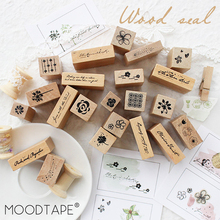 moodtape vintage wood clear stamp English contract flower for DIY scrapbooking/photo album Decorative stamp rubber stamp seal chunky monkey transparent clear silicone stamp seal for diy scrapbooking photo album decorative card making clear stamps 4x6inch