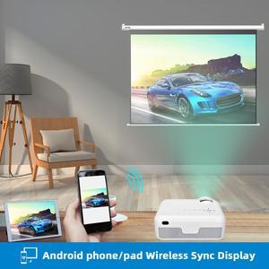 Image 4 - Salange P40Wมินิโปรเจคเตอร์สำหรับiPhone,Wireless SYNCสำหรับโทรศัพท์สมาร์ทAndroidโทรศัพท์มือถือ,โฮมเธียเตอร์HDMI,VGA