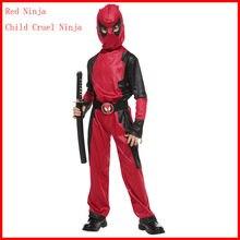 Ninja pirata crianças artes marciais ninja cosplay fantasia vestido menino decorações de festa suprimentos uniformes vestido fantasia