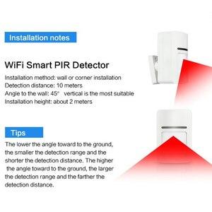 Image 4 - Smart Home Wifi อินฟราเรด Motion Sensor เครื่องตรวจจับ PIR ไร้สาย Pir ระบบสนับสนุน APP TUYA ความปลอดภัย Anti theft