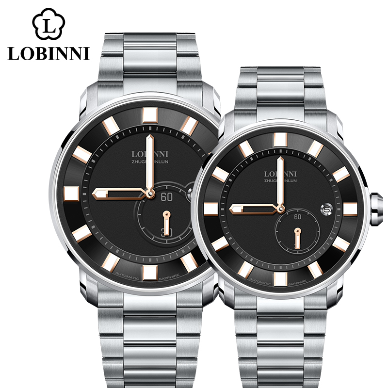 Switzerland Couple Watches Luxury Brand Lover Watches Men Woman  Japan Miyota Mechanical Watch Automatic Clock Sapphire Relogio
