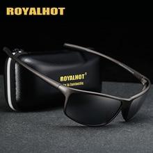 RoyalHot גברים נשים מקוטבות אלסטי TR90 מסגרת ספורט משקפי שמש בציר שמש משקפיים רטרו Eyewear גווני Oculos זכר 900140
