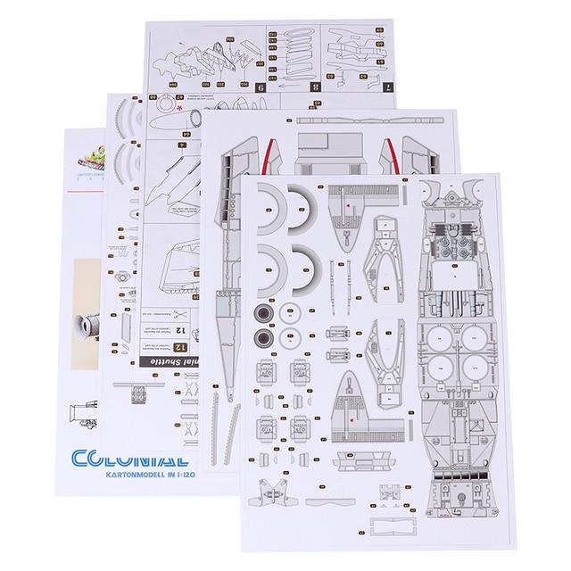 1:120 Scale Battlestar Galactica Colonial Shuttle DIY Handcraft Paper Model Kit 5