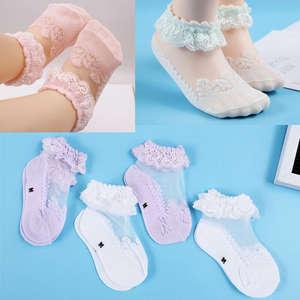 2019 Children Socks Infant Kids Girls Socks Cute Baby Girls Breathable Soft Cotton Children Lace Solid Wear Toddler 0-6T
