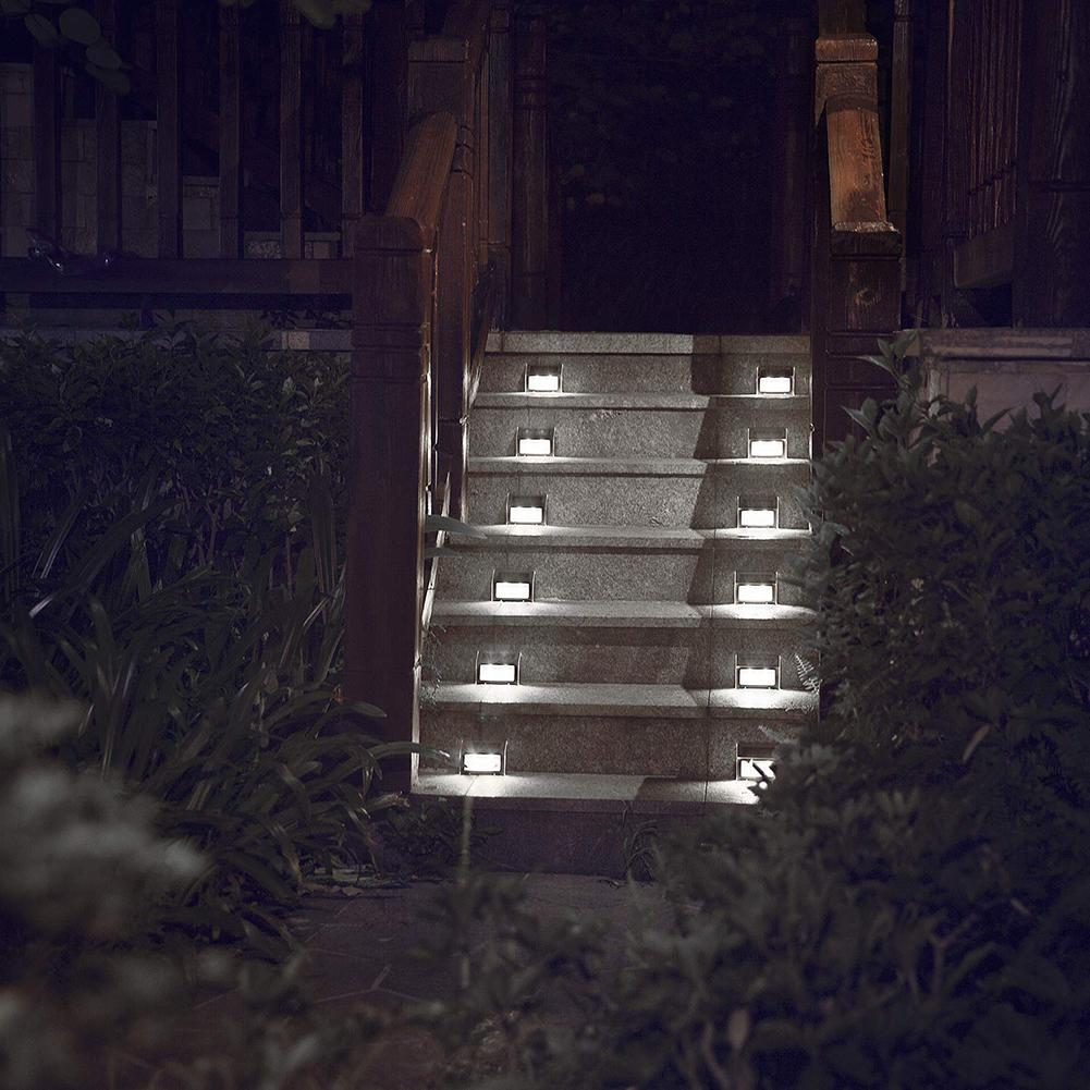 6LED Solar Power Stair Light Outdoor IP55 Waterproof Street Lamp For Garden Yard Respect The Environment For Recycling