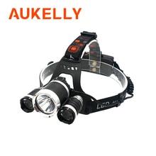 Linterna frontal LED superbrillante XM T6x3, recargable, de largo alcance, para Camping y pesca, 18650
